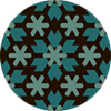 Moroccan Blue And Brown Star Lattice